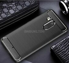 for HTC U11 Eyes Carbon Fibre GEL Case Cover & Glass Screen Protector