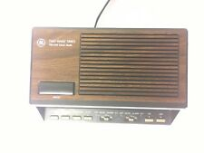 Vintage GE Alarm Clock Radio Model 7-4616A - Two Wake Times. Red LED Digits