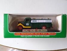 2000 First Hess Truck Mini Nice In Box