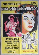 Affiche espagnole UNA CHICA DE CHICAGO Manuel Mur Oti ANA BERTHA LEPE