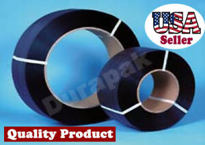 """1/2"""" 9000 Ft 300 lbs 8x8 Core Hand Poly Strapping Coil Black Packing Binding"""