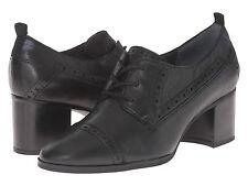 NEW Franco Sarto Alberta Lace-Up Black 100% Leather Shoes UK size 6 / 39