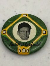 1956 Yellow Basepath Baseball Bob Porterfield Pinback Button Pin
