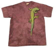 The Mountain Gecko Graphic Tie Dye Burgundy T-Shirt Size Xl Euc