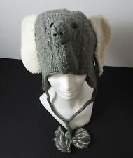 Knitwits Handmade WWF Asian Elephant Animal Pilot Hat Size Youth/Adult (6+) GY2