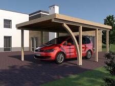 Carport SAN MARINO I Leimbinder 400x600 cm mit 1 Leimholzbogen Flachdachcarport
