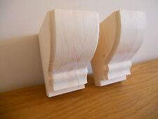 Hecho a mano de madera Corbel soportes estilo 8