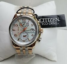 Ladies Citizen Eco-Drive World Time Chronograph Two Tone Watch FC0006-52D A1
