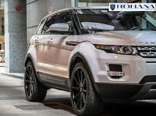 22x9 +42 Rohana RC10 5x108 Black Wheels Fit Range Rover Evoque 2012 Concave Rims