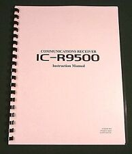 Icom IC-R9500 Instruction Manual - Premium Card Stock Covers & Full Color!