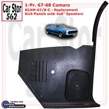 "Custom Autosound KCAM-67/8-COM Kick Panels&4x6"" Speakers 67-68 Camaro HT/Conv"