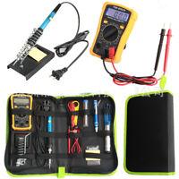 60W Soldering Iron Kit Adjustable Temperature Welding Tool Digital Multimeter