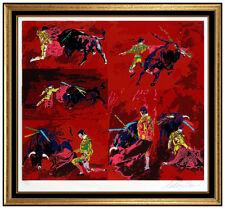 LeRoy Neiman Original Color Serigraph Hand Signed Red Corrida Matador Sports Art