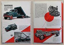 Werbeprospekt Hanomag Hannover Kipper 2,5t Baufahrzeug um 1950 illustriert xz