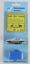 3001 VIESSMANN - ESCALA H0 - AUDI 200 POLICIA LUZ/INTERM HO (c1)