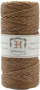 Hemptique Hemp Cord Spool one spool of 20-lb Hemp Cord, 205 feet-Light Brown