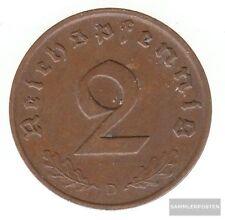 Deutsches Reich Jägernr: 362 1938 J sehr schön Bronze 1938 2 Reichspfennig Reich