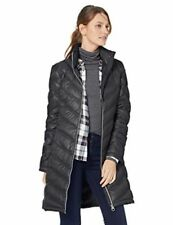 Calvin Klein Down Women Coat Long Jacket Quilted Winter Warm Outwear Black XS