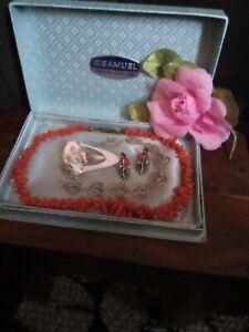 Vintage Jewellery Inc Victorian Coral Bead Necklace