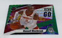2019-20 MOSAIC GIVE AND GO INSERT GREEN PRIZM REFRACTOR RUSSELL WESTBROOK # 11