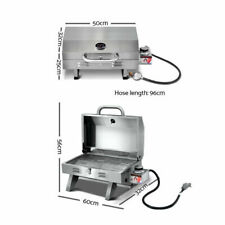 Grillz Stainless Steel Portable Gas Tabletop Grill