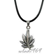 Halskette mit Anhänger Cannabis, Marihuana, Hanf Blatt Silber pendant, necklace
