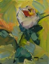 JOSE TRUJILLO OIL PAINTING Rose Unique COLLECTIBLE Impressionism Fine Art coa