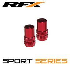 RFX Sport Series Valve Caps & Valve Key 2pcs RED SUZUKI RMZ250 RMZ450