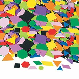 Mosaic Geometric Foam Adhesive Shapes - Crafts for Kids and Fun Home Activities