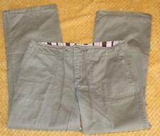 Old Navy Green Khaki's Women's Pants Draw String Size 6 Regular 100% Cotton