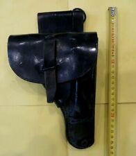 Etui, holster pour pistolet Gendarmerie, cuir vernis noir. Très bon état.