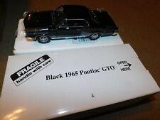 Danbury Mint Die Cast Car Black 1965 Pontiac Gto 1/24 w/ Box