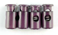 Kordelstopper  , 4 Korelstopper Zylinderform ,Aubergine