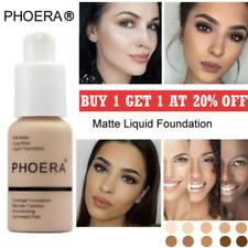PHOERA Foundation Concealer Full Coverage Makeup Matte Brighten long lasting