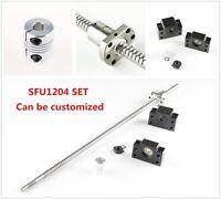 CNC Ball Screw 12mm SFU1204 w/ Ballnut & BF/BK10 End Support + Coupler