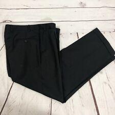 "Canali Pleated Dress Pants Zipper Fly Size 36W (29"" Inseam) Cuffed Italy Wool"