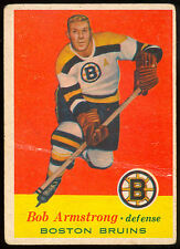 1957-58 TOPPS HOCKEY #3 BOB ARMSTRONG VG BOSTON BRUINS CARD