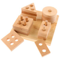 200x Wooden Square Stacking Blocks Craft Cube Educational Kids Puzzle Toy