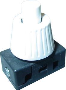 Druckschalter Weiß, Mini Einbau Druckschalter, 230V / 2A, EIN/AUS, S6