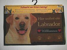 wetterfest Hund Dog 49 Fußmatte LABRADOR WEIß Türvorleger Fußabtreter