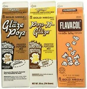 Flavacol Salt and Glaze Pop Flavoring 3 Pack