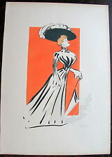 SEM, LITHOGRAPHIE ORIGINALE, Suzanne Orlandi (Album  Paris Trouville, 1900)