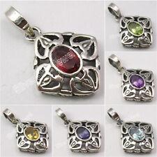 925 Silver DESIGNER CAST Pendant PERIDOT, AMETHYST & Choose Other Gemstones