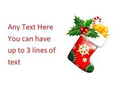 195 Personalised Christmas Address Stickers Labels Stocking Xmas Invitation