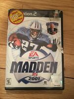 EA SPORTS NFL MADDEN 2001 - PS2 - COMPLETE W/MANUAL - FREE S/H (I)
