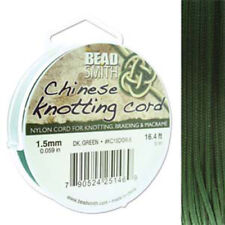 Knotting Cord 1.5mm 5 Meter Dk Green