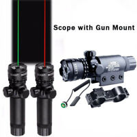 Green/Red Dot Laser Sight Rifle Gun Scope Rail Mount+Remote Switch For Hunting