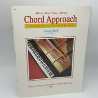 Alfred's Basic Piano Chord Approach Lesson Book Level 1 Beginner Palmer 2644
