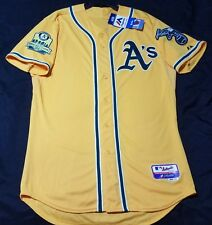 Majestic AUTHENTIC SIZE 60 4XL, OAKLAND A'S, GOLD, COOL BASE Jersey
