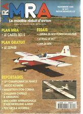 "MRA N°671 PLAN : ""LE ZEPHIR"" ENVERGURE 1m20 / EREBIA DE NEW POWER MODELISME"